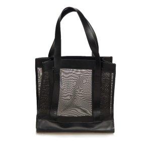 Gucci Sac fourre-tout noir tissu mixte
