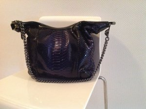 Gucci Metallic Blue/Black Phyton Chain Shoulder Bag