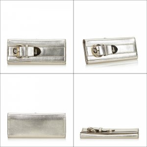 Gucci Metallic Leather Romy Clutch Bag