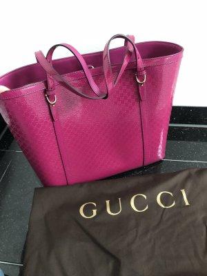 Gucci Mini guccissima Lack Leder shopper Pink wie neu