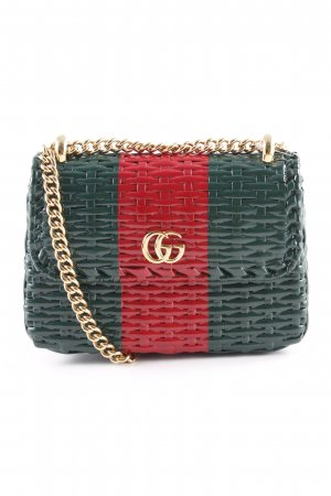 "Gucci Mini Bag ""Web Wicker Mini Shoulder Bag Verde/Rosso"""