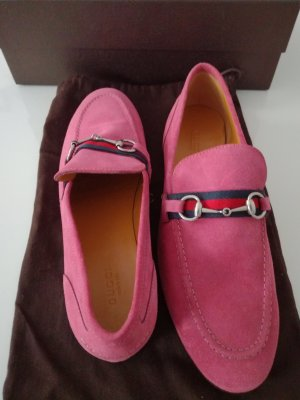 Gucci Mocassins rose-rose fluo cuir