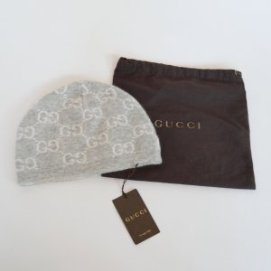 Gucci Beanie light grey-white cashmere