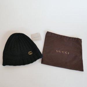 Gucci Mütze Beanie Schwarz Wolle Neu