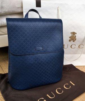 * GUCCI * NEU ! Großer RUCKSACK Blue Diamante Leather backpack - unisex -( NP 1950 € )