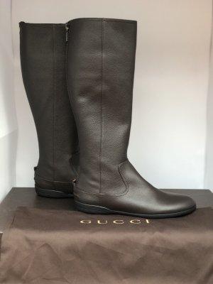 Gucci Neu Original Lederstiefel braun Große-38