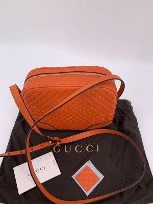 Gucci Sac porté épaule orange cuir