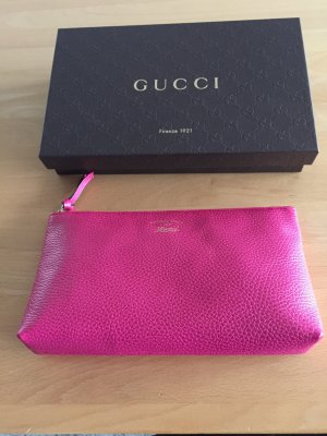 Gucci Handbag raspberry-red leather