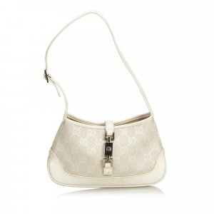 Gucci New Jackie Jacquard Shoulder Bag