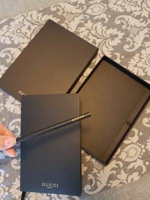 Gucci Notizbuch Blanco GG mit Bleistift