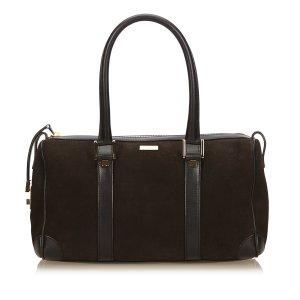 Gucci Nubuck Leather Boston Bag