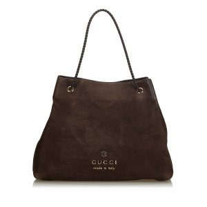 Gucci Nubuck Leather Tote Bag
