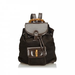 Gucci Nylon Bamboo Backpack