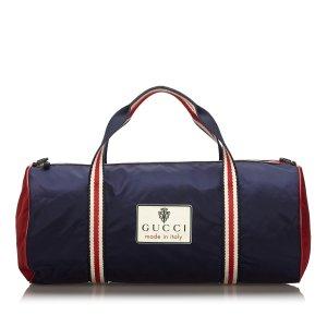 Gucci Travel Bag blue nylon