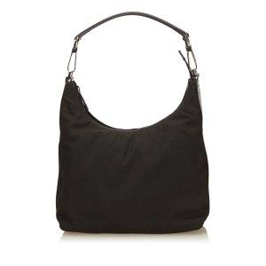 Gucci Shoulder Bag dark brown nylon