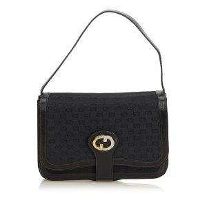 Gucci Old Gucci Canvas Shoulder Bag