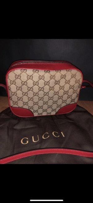 Gucci Borsa a spalla marrone chiaro-magenta