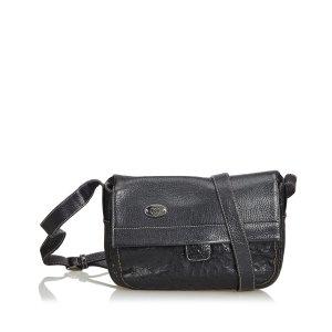 Gucci Crossbody bag black reptile leather