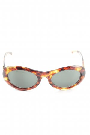 Gucci Oval Sunglasses brown-light orange color gradient casual look