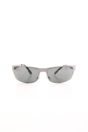 Gucci ovale Sonnenbrille hellgrau Casual-Look