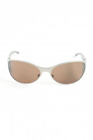 Gucci ovale Sonnenbrille braunrot Casual-Look