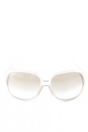 Gucci Oval Sunglasses cream elegant