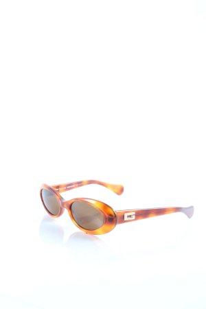 Gucci ovale Sonnenbrille dunkelorange-hellorange Farbverlauf 70ies-Stil