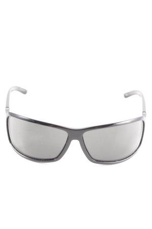Gucci ovale Sonnenbrille schwarz Casual-Look