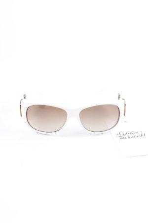 Gucci ovale Sonnenbrille mehrfarbig extravaganter Stil
