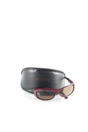 Gucci ovale Sonnenbrille purpur 90ies-Stil