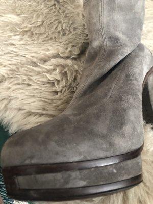 Gucci Overknees grey brown