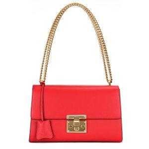 Gucci Padlock Tasche aus Leder in Rot, Kette