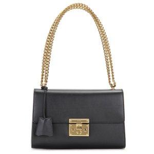 Gucci Padlock Tasche aus Leder in Schwarz, Kette