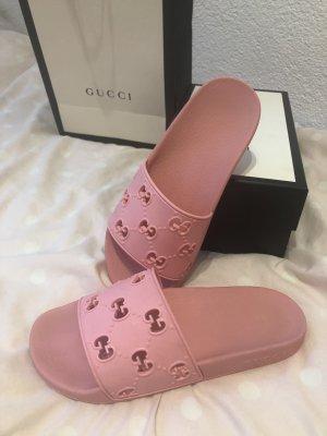 Gucci Zomerschoenen met hak roze