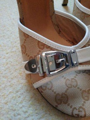 Gucci Sandalo con tacco beige-color cammello