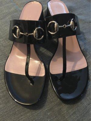 Gucci Heel Pantolettes black leather