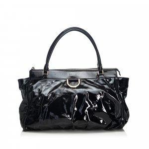 Gucci Patent Leather Abbey Handbag
