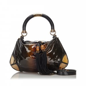 Gucci Patent Leather Babouska Indy Satchel