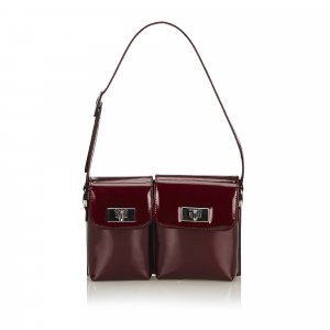 Gucci Handbag bordeaux imitation leather