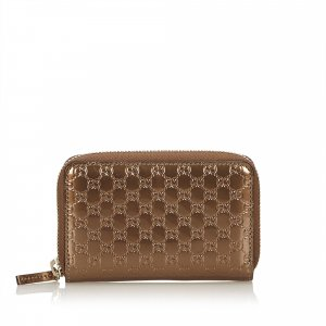 Gucci Wallet bronze-colored imitation leather