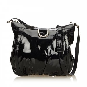 Gucci Patent Leather D-Ring Messenger Bag