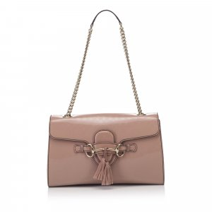 Gucci Patent Leather Emily Chain Shoulder Bag