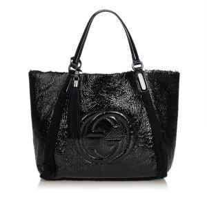 Gucci Patent Leather Soho Cellarius Tote