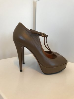 Gucci Mary Jane pumps grijs-bruin
