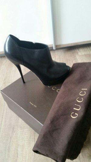 Gucci Peeptoe-Stiefeletten in schwarz,Gr.39,5!