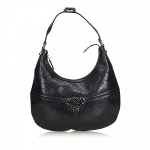 Gucci Perforated Leather Reins Hobo