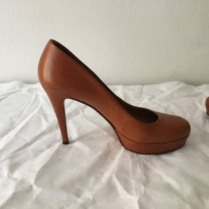 Gucci Plateau-Pumps in Cognac