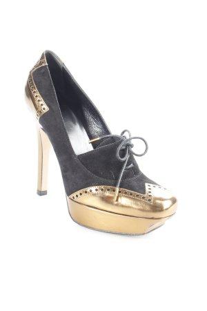 Gucci Plateau-Pumps schwarz-goldfarben Eleganz-Look