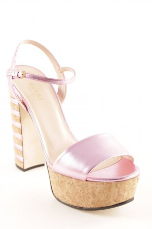 "Gucci Plateau-Sandaletten ""Ankle-Strap Sandal """