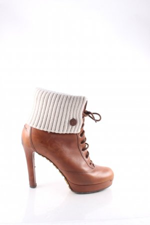 Gucci Platform Booties cognac-coloured-natural white street-fashion look
